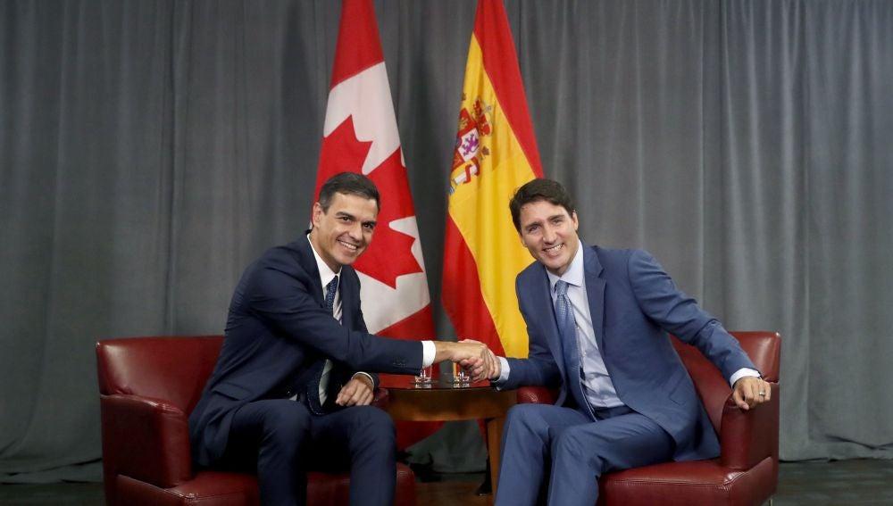 Pedro Sánchez y Justin Trudeau