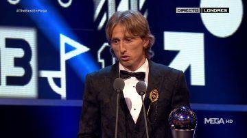 Luka Modric gana el premio The Best a mejor jugador del año