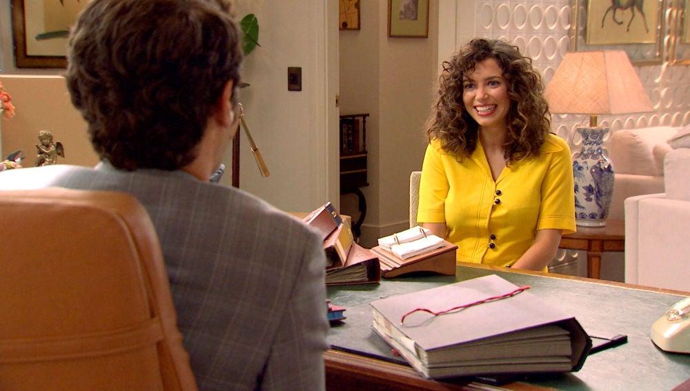 Carlos de la Vega, prendado de Amelia le da una nueva oportunidad en el hotel La Estrella