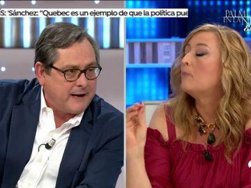 """Paco Marhuenda amenaza con abandonar 'Espejo Público' en directo: """"No me vuelvas a llamar machista, maleducada"""""""