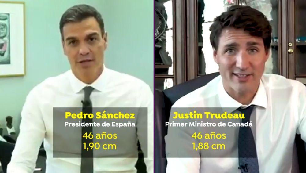 La similitudes físicas y de gobierno de Pedro Sánchez y Justin Trudeau