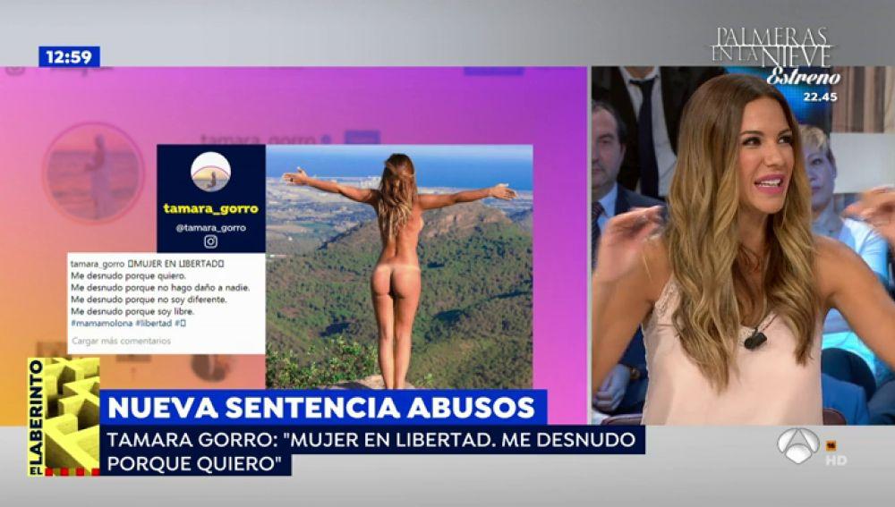"""Tamara Gorro, sobre su foto desnuda en Instagram: """"Lo hice porque pensé que el paisaje era un espectáculo"""""""