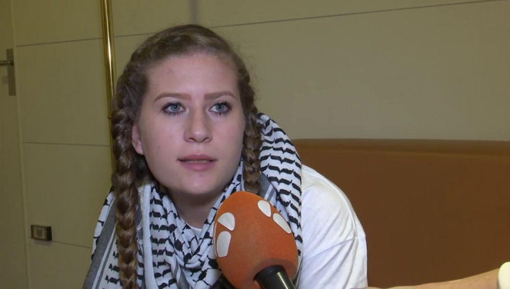"""Ahed Tamini, símbolo de la resistencia palestina, en su primera visita a Madrid: """"Los palestinos estamos pagando el precio del Holocausto"""""""