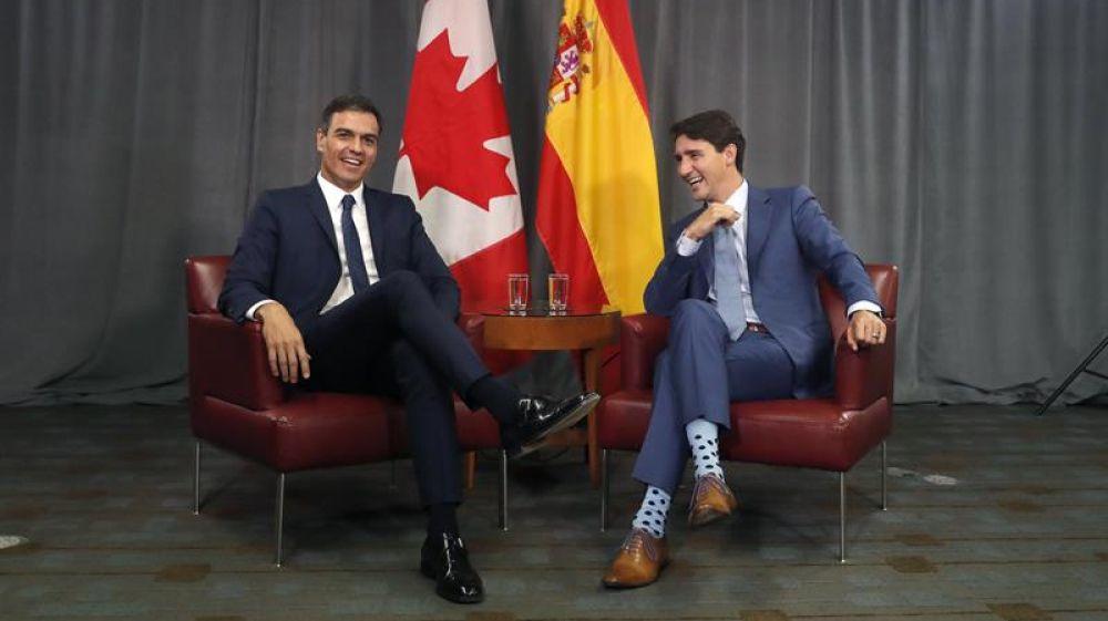 Trudeau y Sánchez