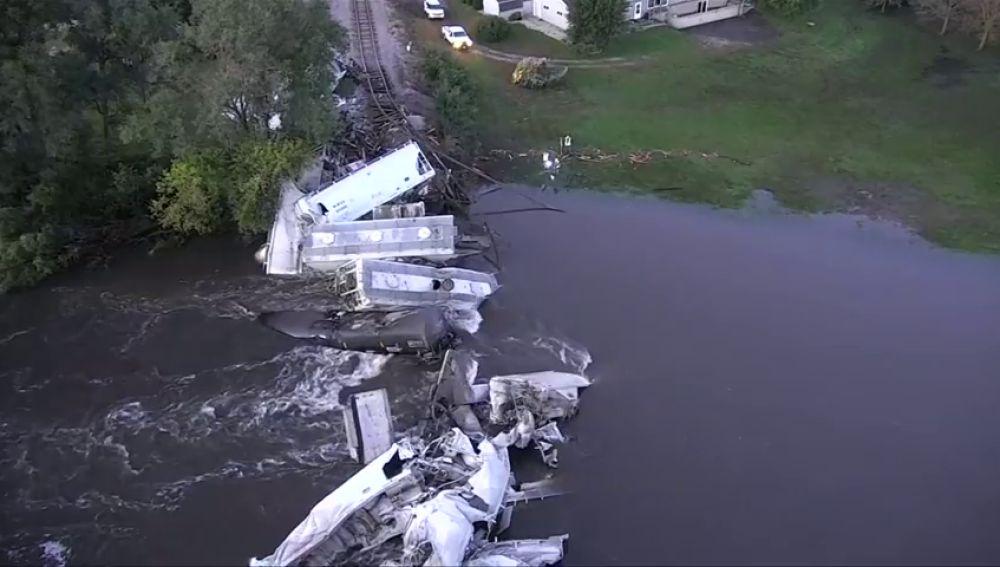 Un tren descarrila sin dejar heridos en Iowa