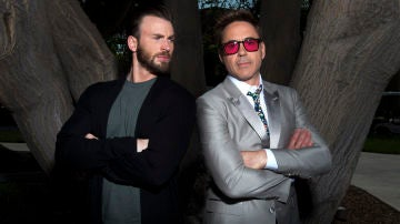 Robert Downey Jr y Chris Evans