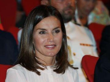 La reina Letizia durante el acto