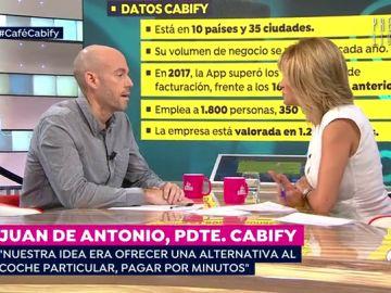 """Juan de Antonio, fundador de Cabify: """"No vamos a vender la empresa porque no estamos aquí para quedarnos dos días"""""""