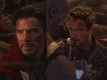Doctor Strange y Tony Stark en 'Vengadores: Infinity War'