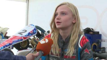 """Irene Navas gana una carrera de karts donde era la única niña: """"Demostramos que somos iguales"""""""