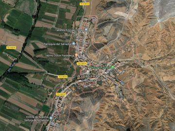 Imagen satélite de la zona de Villaspesa