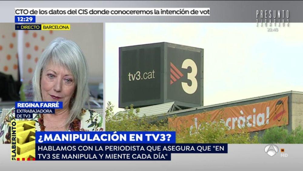 """Regina Farré, experiodista de TV3: """"No me dejaban utilizar el término 'país' para referirme a España"""""""