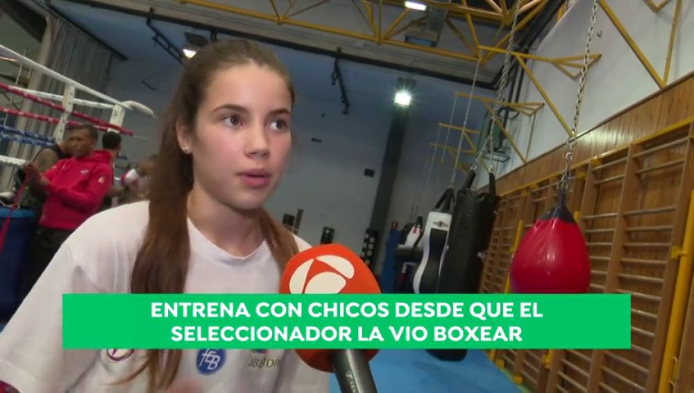 "Laura 'la bonita Carrasco': ""Quiero ser boxeadora"""