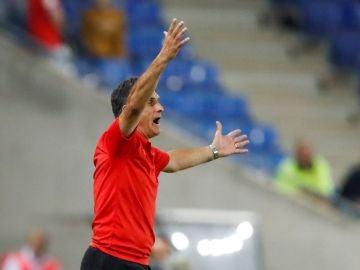 Mendilibar, durante el partido contra el Espanyol