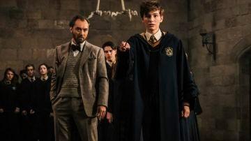 Dumbledore y Newt Scamander en 'Animales Fantásticos: Los crímenes de Grindelwald'