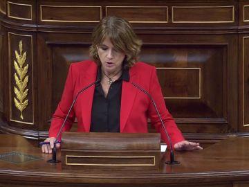 """Dolores Delgado niega que va a dimitir: """"Ni este gobierno socialista, ni esta ministra va aceptar el chantaje de nadie"""""""