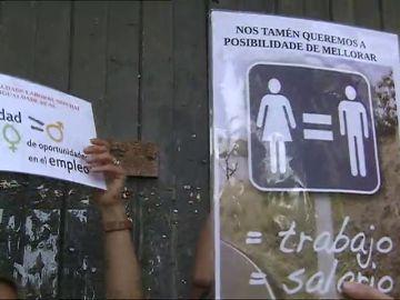 Personal de limpieza de la Xunta se concentra por discriminación salarial