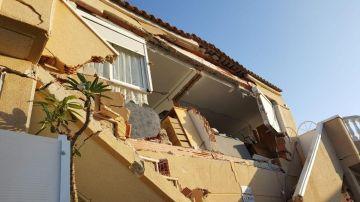 El edificio derrumbado en Orihuela