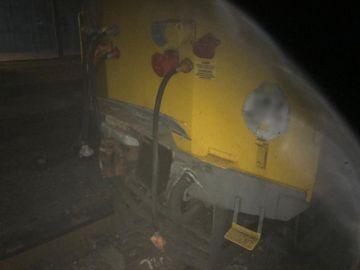 Parte del tren colisionado