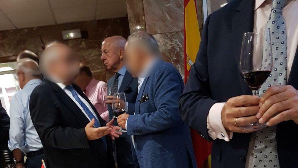 'Billy el Niño' en una celebración en una comisaría de Madrid