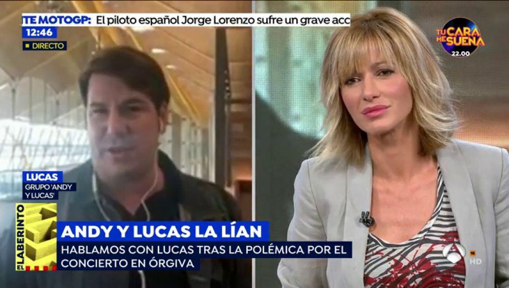 """Lucas, de 'Andy y Lucas', pide perdón por el altercado en Órgiva: """"No me reconozco, me porté como un mamarracho"""""""