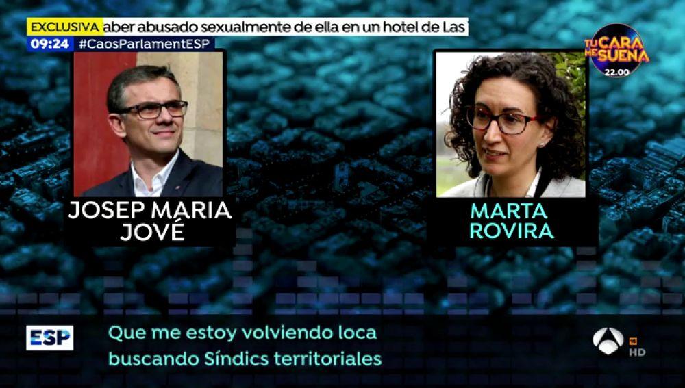 Los audios en exclusiva de Marta Rovira y Josep María Jové