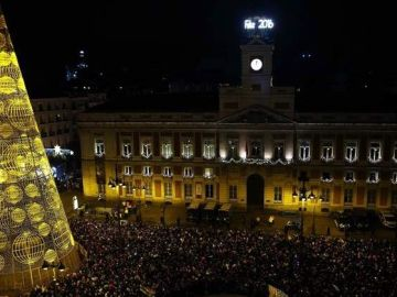 La Puerta del Sol durante las campanadas de fin de año (Archivo)