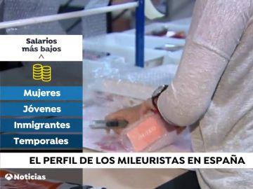 Perfil de mileurista: mujer de menos de 30 años que trabaja en el campo o en el hogar
