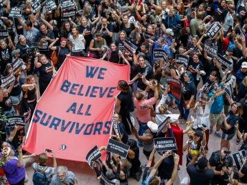 Manifestación contra Kavanaugh en EEUU