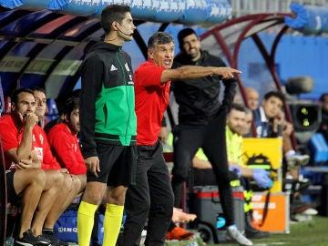 Mendilibar, en un partido del Eibar