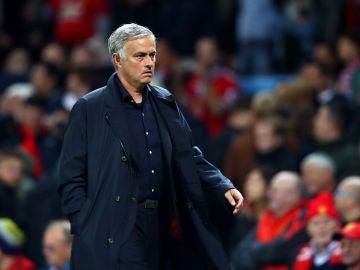 Mourinho, en un partido del Manchester United
