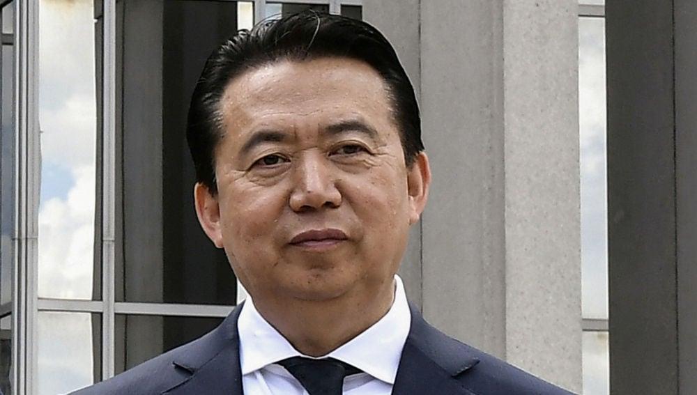 El presidente de Interpol, Meng Hongwei