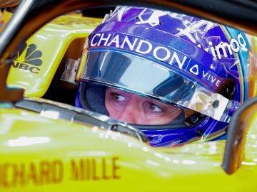 Fernando Alonso, en la clasificación del GP de Japón