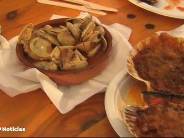 O Grove en Pontevedra celebra su gran fiesta del marisco gallego