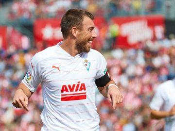 Sergi Enrich celebra su gol ante el Girona