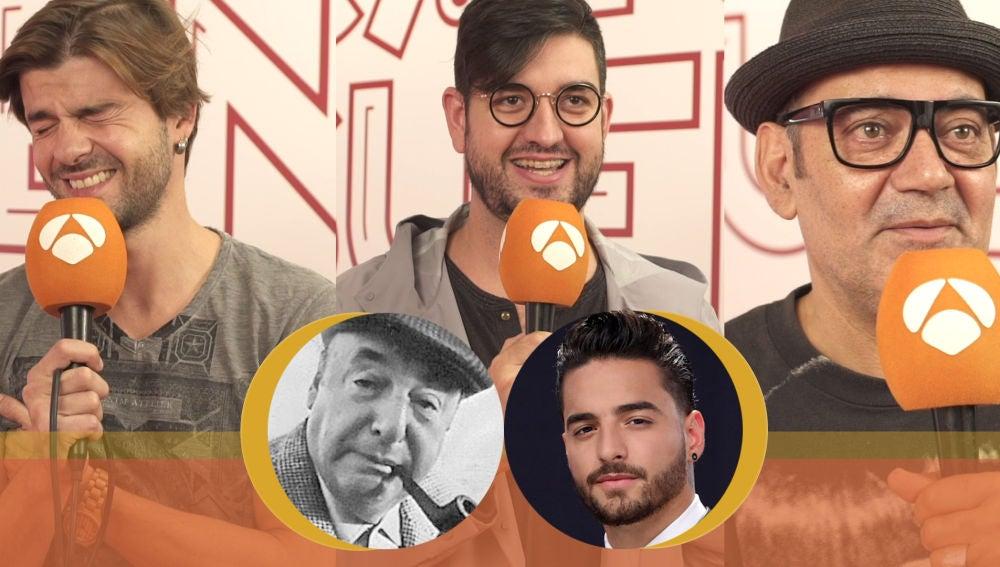 Jordi Coll, Manu Sáchez y José Corbacho se someten al test de Maluma y Neruda: ¿De quién es la frase?