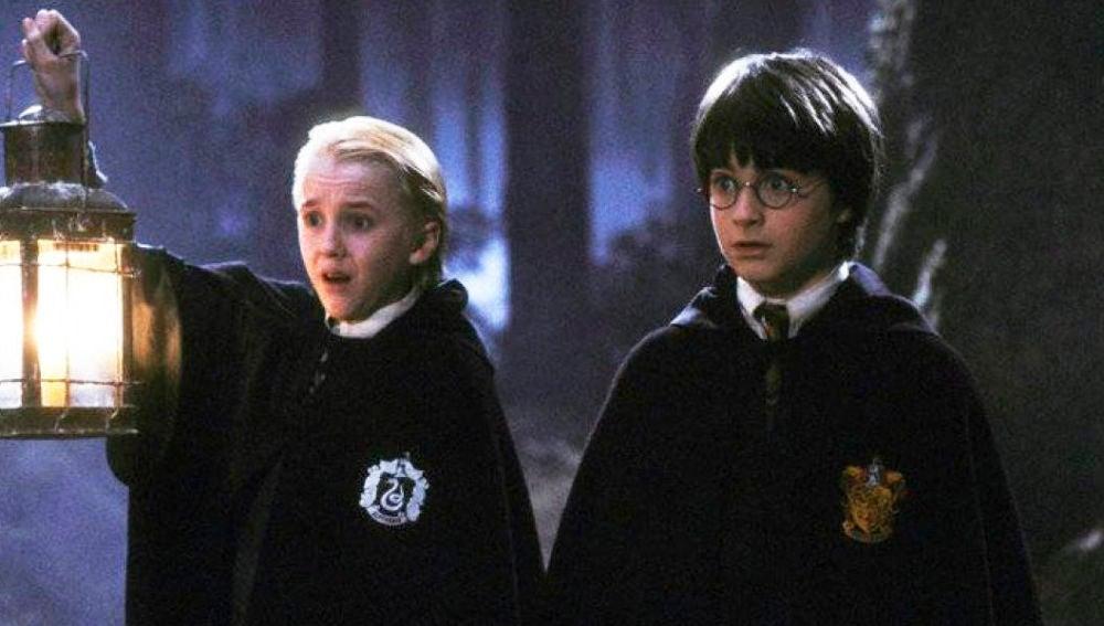 Tom Felton y Daniel Radcliffe en 'Harry Potter'