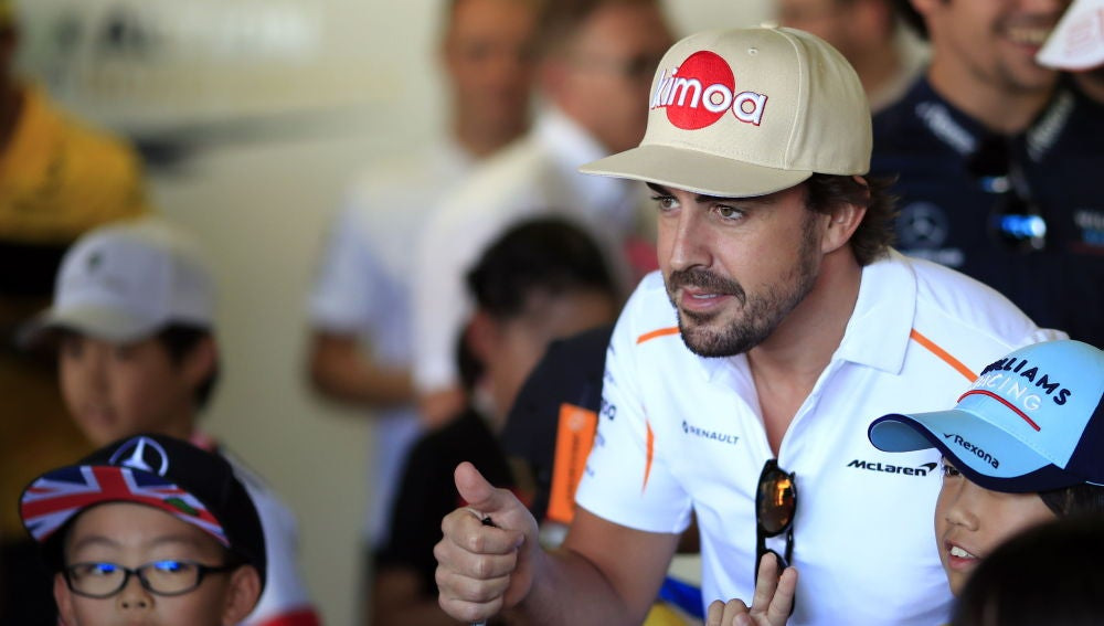 Fernando Alonso, en el trazado de Suzuka
