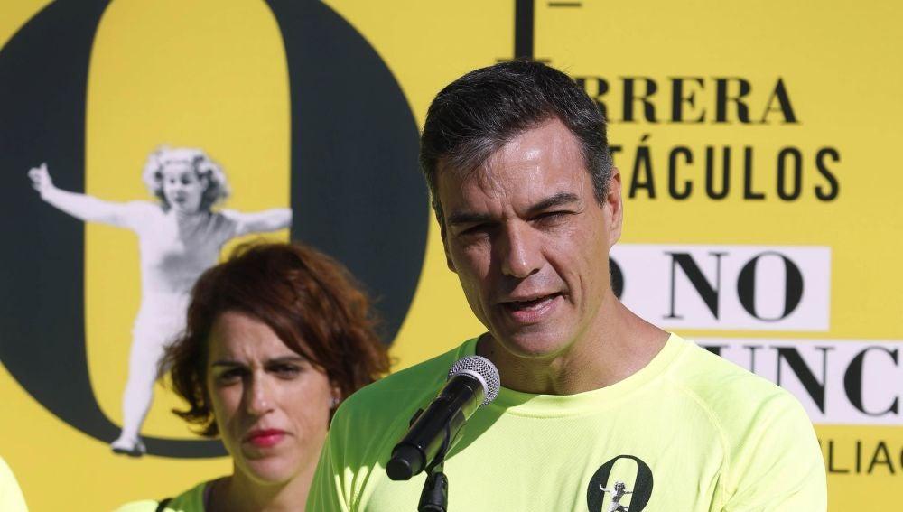 Pedro Sánchez participa en una carrera por la conciliación familiar