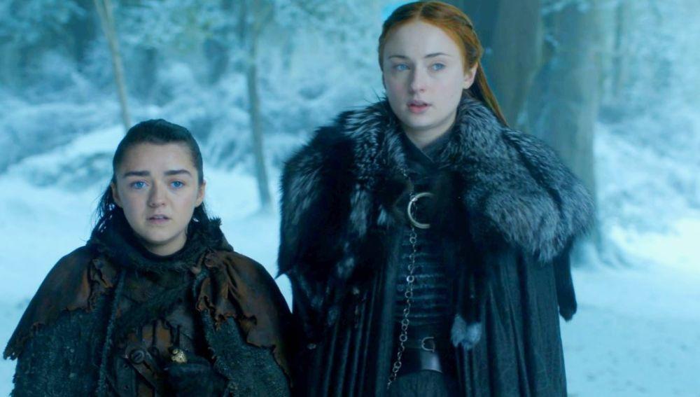 Sansa y Arya en 'Juego de Tronos'