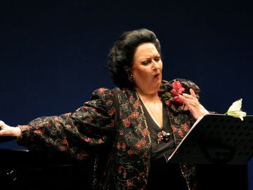 En la imagen, la soprano Monserrat Caballé