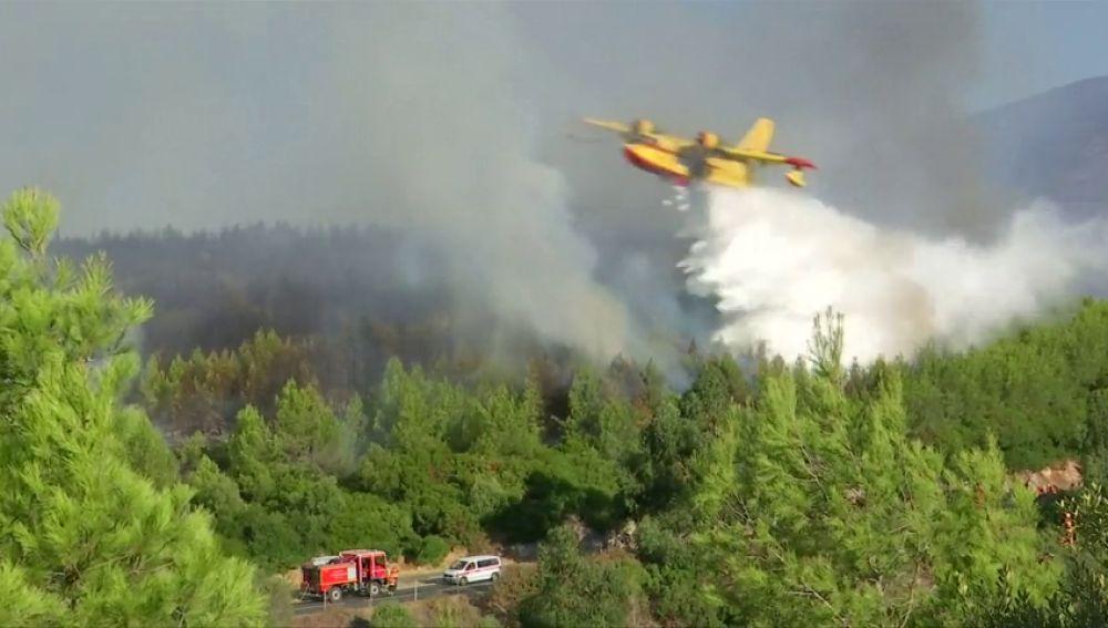 Cientos de evacuados y al menos 18 heridos en un incendio de Sintra (Lisboa)