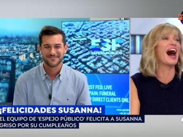 La broma que asustó a Susanna Griso con la que el equipo felicita el cumpleaños a la presentadora