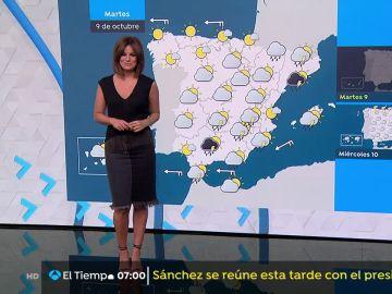 Temperaturas diurnas en descenso en el área mediterránea y en aumento en el noroeste