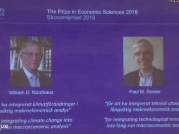 William Nordhaus y Paul Romer, premio Nobel de Economía