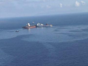 Derrame de combustible frente a las costas de Córcega por una colisión entre dos barcos mercantes