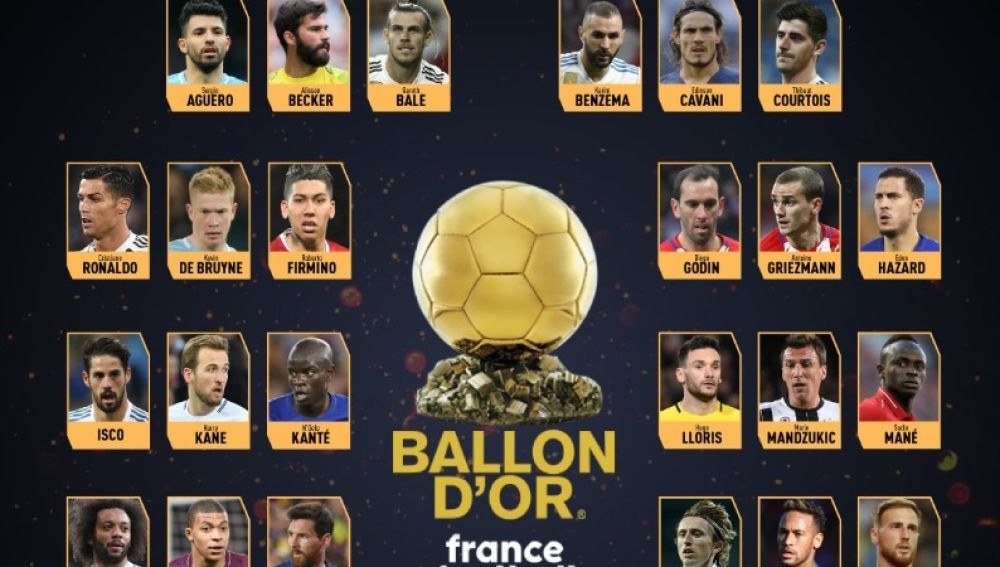 Los 30 jugadores nominados al Balón de Oro