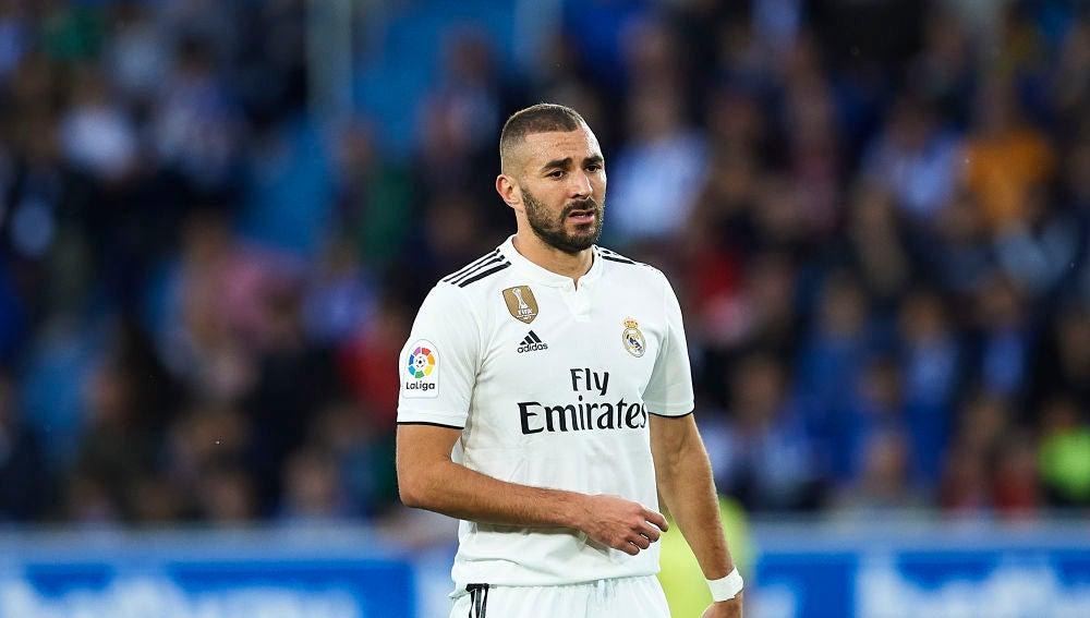 Karim Benzema, en el partido ante el Alavés