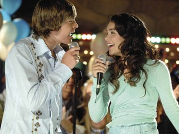 Troy Bolton y Gabriella Montez en 'High School Musical'