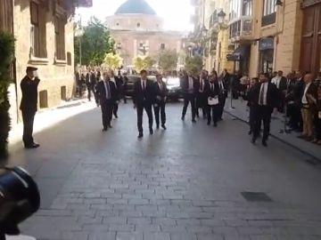 Sánchez llega al Palau de la Generalitat para asistir al acto institucional por el Día de la Comunidad Valenciana